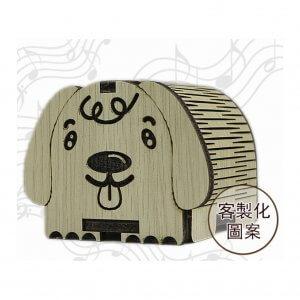 木雕手搖音樂盒
