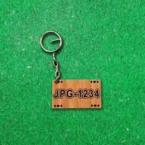 鑰匙圈-車牌-柚木-2