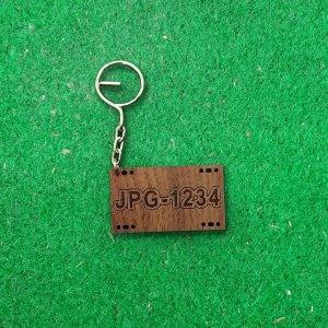鑰匙圈-車牌-紫檀-2
