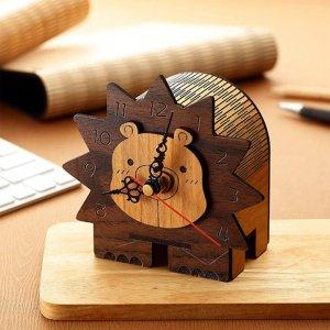 木雕造型時鐘-小獅子