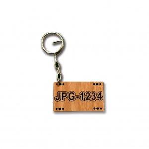 木雕鑰匙圈-客製化車牌鑰匙圈-柚木